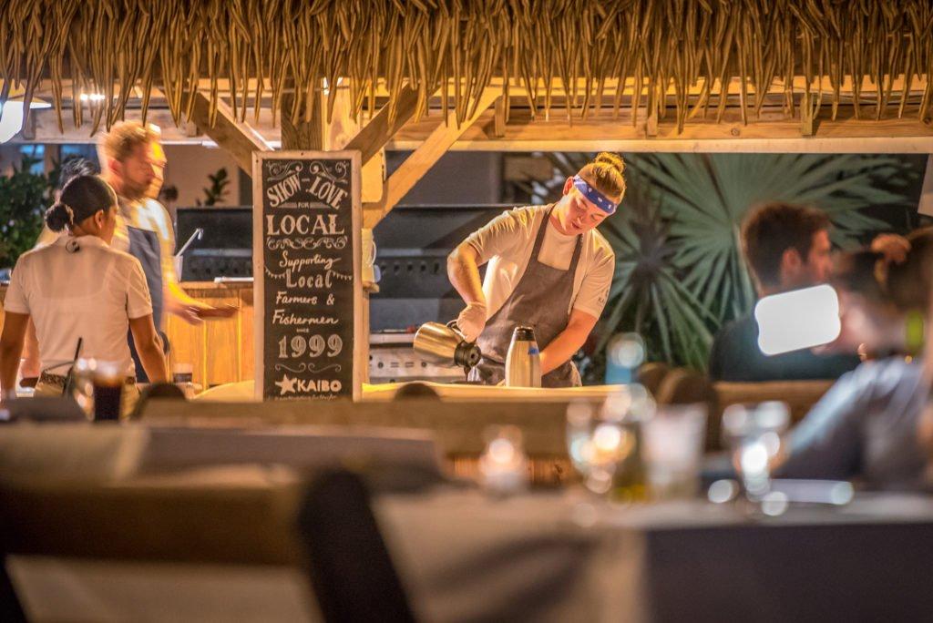 Cabana cooking, Luna Del Mar, Kaibo, Cayman Islands